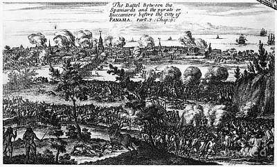 Panama City Raid, 1671 Poster by Granger
