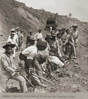 Panamanian Laborers At Work Poster