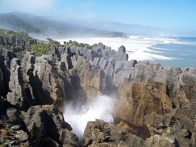Poster featuring the photograph Pancake Rocks Blowhole by Peter Mooyman