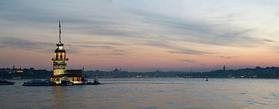 Panoramic View Of Maiden Tower Poster by Doruk Photography