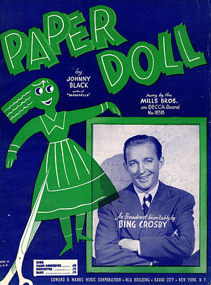Paper Doll Poster by Mel Thompson