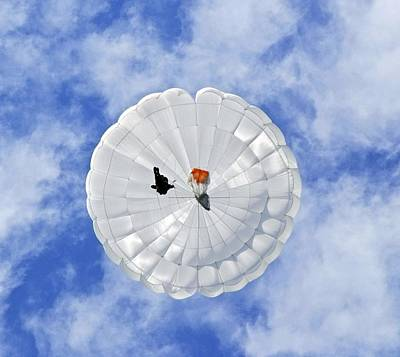 Parachute Seen From Below Poster by Ria Novosti