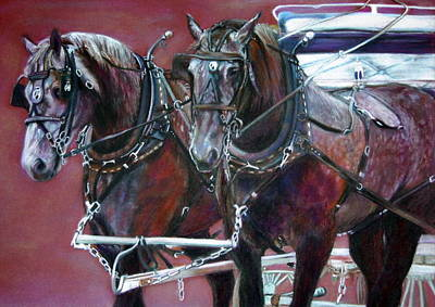 Parade Horses  Poster by Leonor Thornton