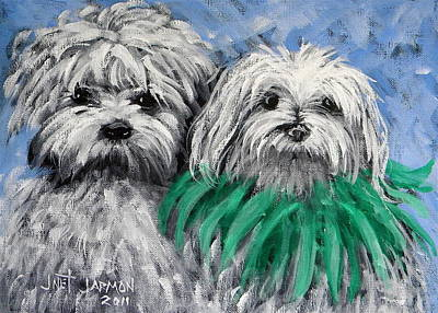 Parade Pups Poster by Jeanette Jarmon