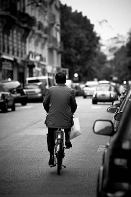 Paris By Bike Poster by Edward Myers