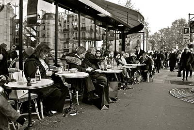 Poster featuring the photograph Paris Cafe by Eric Tressler