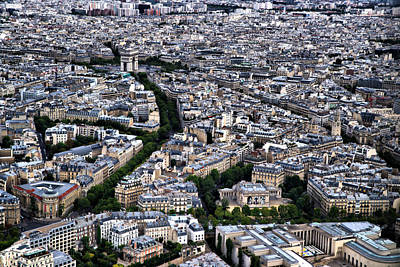 Poster featuring the photograph Paris From Above 2 by Edward Myers