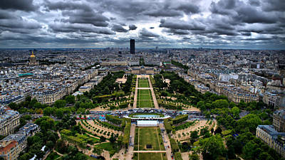 Poster featuring the photograph Paris From Above by Edward Myers