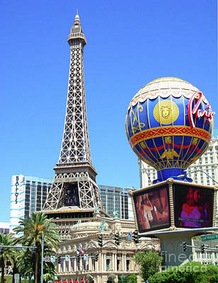 Paris Las Vegas Hotel And Casino Poster by Mariola Bitner