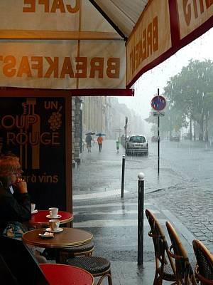 Paris Pluie Poster by Rdr Creative