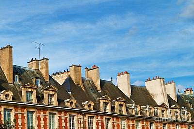 Poster featuring the photograph Paris Rooftops by Kim Wilson