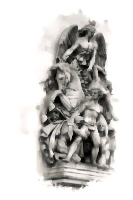 Paris Statuary Poster by Gordon Engebretson
