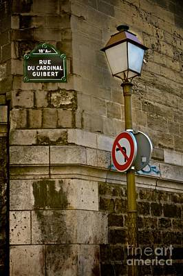 Paris Street Corner Poster