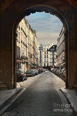 Poster featuring the photograph Paris Street by Kim Wilson