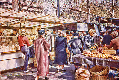 Parisian Market 1954 Poster by Chuck Staley