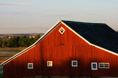Poster featuring the digital art Parker Road Barn by Brian Davis