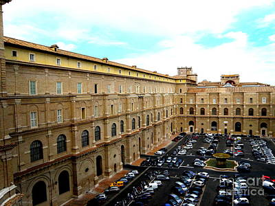 Poster featuring the photograph Parking Lot In Vatican by Tanya  Searcy