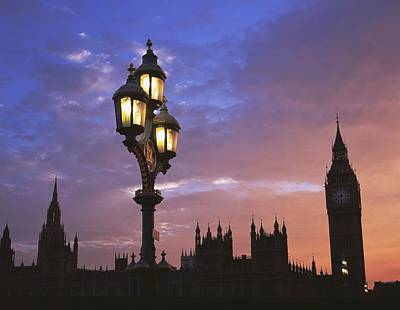 Parliament And Light At Sunset Poster by Axiom Photographic