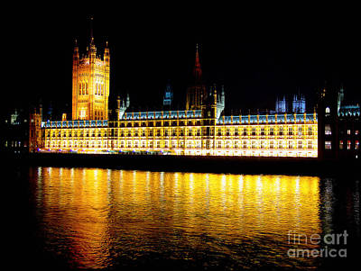 Parliament At Night Poster by Thanh Tran