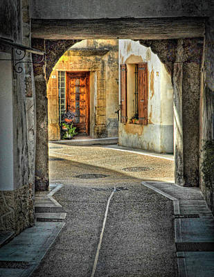 Poster featuring the photograph Passageway And Arch In Provence by Dave Mills