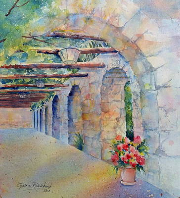Passageway Of History At The Alamo Poster