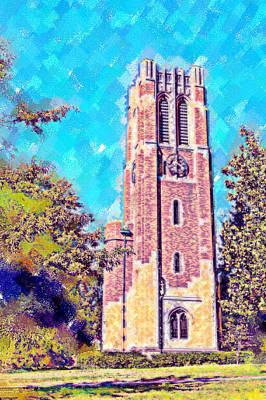 Pastel Beaumont Tower 2 Poster by Paul Bartoszek