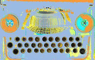 Pastel Pop Typewriter Art Poster