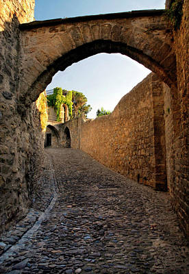 Poster featuring the photograph Pathway Through Gordes France by Dave Mills