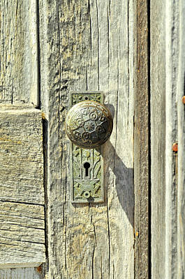 Poster featuring the photograph Patina Knob by Fran Riley
