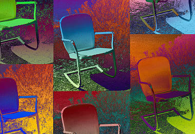 Poster featuring the photograph Patio Chair by David Pantuso