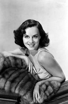Paulette Goddard With Fur Coat Poster by Everett