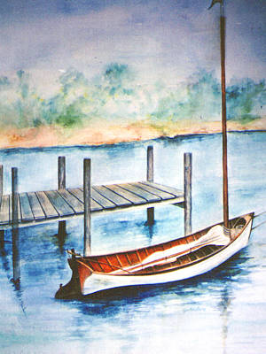 Poster featuring the painting Pea Pod Boat by Lynn Buettner