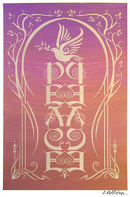 Peace Reflectograph Poster by Cristina McAllister