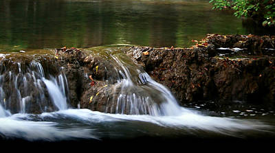 Poster featuring the photograph Peaceful Falls by Karen Harrison