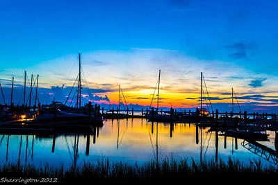 Peacefull Sunset Poster by Shannon Harrington