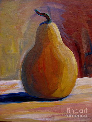 Poster featuring the painting Pear  by Gretchen Allen