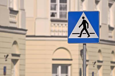 Pedestrian Crossing Sign. Poster