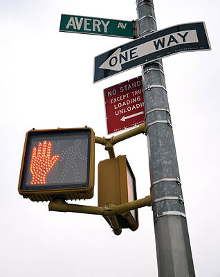 Pedestrian Crossing Sign Poster by Snap Decision