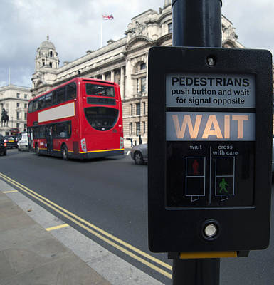 Pedestrian Traffic Controls On The Side Poster