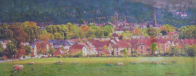 Poster featuring the painting Peebles Vista by Richard James Digance