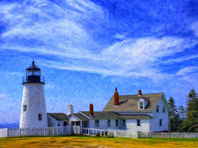 Pemaquid Point Lighthouse Poster by Dominic Piperata