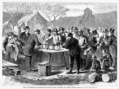 Pennsylvania: Voting, 1872 Poster