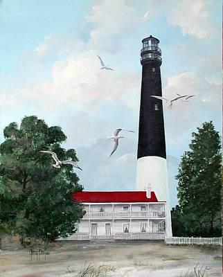 Pensacola Light House Poster