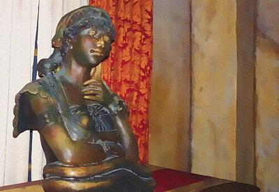Pensive Statue Poster
