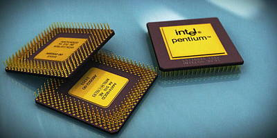 Pentium Is Still Awesome Poster by Rimantas Vaiciulis