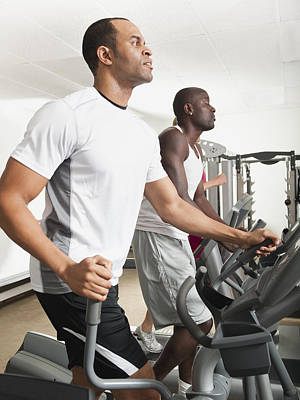 People Exercising In Health Club Poster