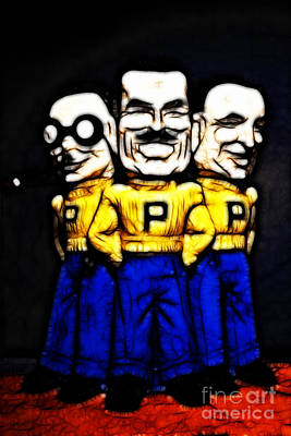 Pep Boys - Manny Moe Jack - Color Sketch Style - 7d17428 Poster by Wingsdomain Art and Photography