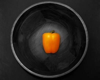 Pepper In Bowl Poster by Obi Martinez