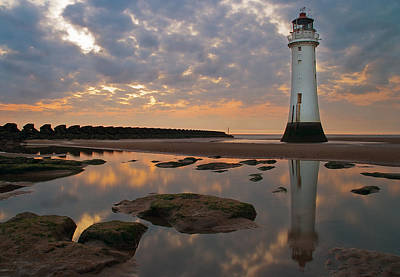 Perch Rock Lighthouse Poster by Wayne Molyneux