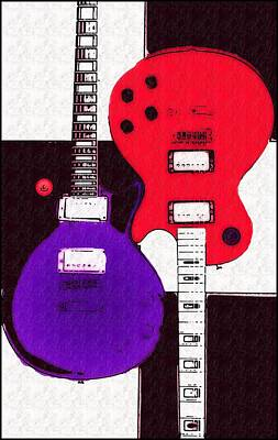 Perfect Fit -   Les Paul Poster by Bill Cannon
